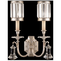 Fine Art Lamps Eaton Place 2 Light Sconce in Muted Silver Leaf 583050-2ST
