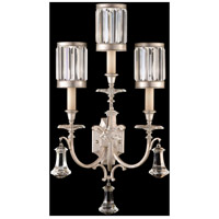 Fine Art Lamps Eaton Place 3 Light Sconce in Muted Silver Leaf 583150-2ST