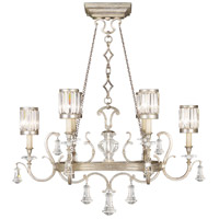 Eaton Place Silver 6 Light 46 inch Muted Silver Leaf Chandelier Ceiling Light