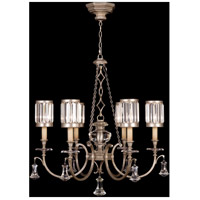 Eaton Place Silver 6 Light 32 inch Muted Silver Leaf Chandelier Ceiling Light