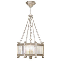 Eaton Place Silver 8 Light 25 inch Muted Silver Leaf Pendant Ceiling Light
