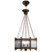 Eaton Place 8 Light 25 inch Rustic Iron Pendant Ceiling Light
