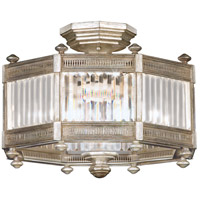Eaton Place Silver 3 Light 20 inch Muted Silver Leaf Semi-Flush Mount Ceiling Light
