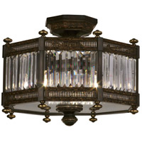 Eaton Place 3 Light 20 inch Rustic Iron Semi-Flush Mount Ceiling Light