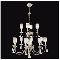 Fine Art Lamps Eaton Place 12 Light Chandelier in Muted Silver Leaf 584740-2ST
