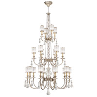 Eaton Place Silver 20 Light 52 inch Muted Silver Leaf Chandelier Ceiling Light
