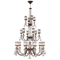 Fine Art Lamps Eaton Place 20 Light Chandelier in Rustic Iron 584840ST