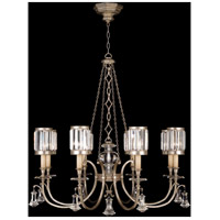 Eaton Place Silver 8 Light 43 inch Muted Silver Leaf Chandelier Ceiling Light