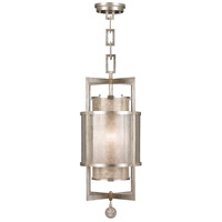 Singapore Moderne 1 Light 13 inch Muted Silver Leaf Lantern Ceiling Light