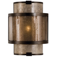 Singapore Moderne 1 Light 9 inch Brown Patinated Bronze Coupe Wall Light