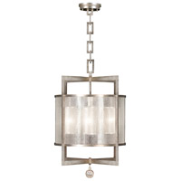 Fine Art Lamps Singapore Moderne 4 Light Lantern in Muted Silver Leaf 591140-2ST