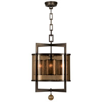 Singapore Moderne 4 Light 22 inch Brown Patinated Bronze Lantern Ceiling Light