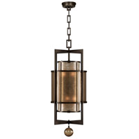 Singapore Moderne 6 Light 18 inch Brown Patinated Bronze Lantern Ceiling Light