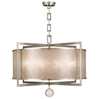 Singapore Moderne 8 Light 40 inch Muted Silver Leaf Pendant Ceiling Light