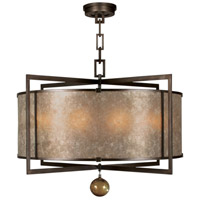 Fine Art Lamps 591540ST Singapore Moderne 8 Light 40 inch Bronze Pendant Ceiling Light