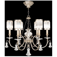 Eaton Place Silver 6 Light 32 inch Warm Muted Silver Leaf Chandelier Ceiling Light