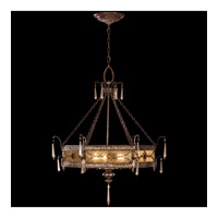 Fine Art Lamps Brazilian 3 Light Pendant in Brown Patina and Prata Antiga Silver Accents (previously 599440ST) 16439