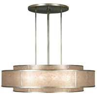 Singapore Moderne 12 Light 60 inch Muted Silver Leaf Pendant Ceiling Light