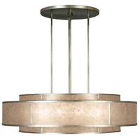 Fine Art Lamps 600140-2ST Singapore Moderne 12 Light 60 inch Muted Silver Leaf Pendant Ceiling Light