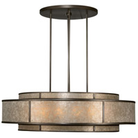 Singapore Moderne 12 Light 60 inch Warm Muted Silver Leaf Pendant Ceiling Light