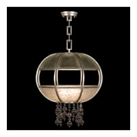 Singapore Moderne 8 Light 31 inch Muted Silver Leaf Pendant Ceiling Light