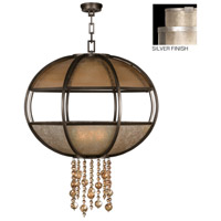 Singapore Moderne 8 Light 42 inch Muted Silver Leaf Pendant Ceiling Light