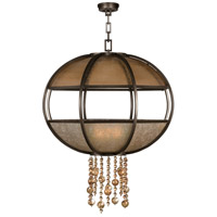 Singapore Moderne 8 Light 42 inch Brown Patinated Bronze Pendant Ceiling Light
