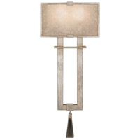 Singapore Moderne 2 Light 10 inch Muted Silver Leaf Sconce Wall Light