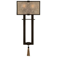 Singapore Moderne 2 Light 10 inch Brown Patinated Bronze Sconce Wall Light