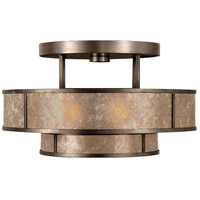 Singapore Moderne 3 Light 24 inch Warm Muted Silver Leaf Semi-Flush Mount Ceiling Light