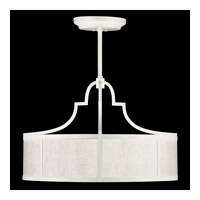 Fine Art Lamps Black and White Story 8 Light Pendant in Studio White Satin Lacquer 601740-5ST