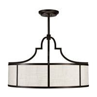 Fine Art Lamps Black and White Story 8 Light Pendant in Black Satin Lacquer 601840-6ST