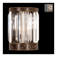 Eaton Place Silver 1 Light 6 inch Warm Muted Silver Leaf Coupe Wall Light
