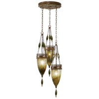 Fine Art Lamps Scheherazade 3 Light Pendant in Aged Dark Bronze 608640-1ST