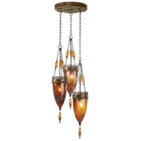 Fine Art Lamps Scheherazade 3 Light Pendant in Aged Dark Bronze 608640-2ST