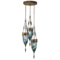 Fine Art Lamps Scheherazade 3 Light Pendant in Aged Dark Bronze 608640-3ST