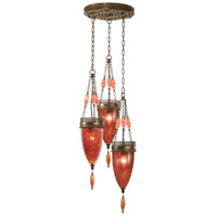 Fine Art Lamps Scheherazade 3 Light Pendant in Aged Dark Bronze 608640-4ST