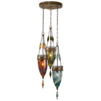 Fine Art Lamps Scheherazade 3 Light Pendant in Aged Dark Bronze 608640-5ST