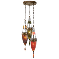 Fine Art Lamps Scheherazade 3 Light Pendant in Aged Dark Bronze 608640-6ST