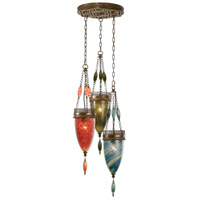 Fine Art Lamps Scheherazade 3 Light Pendant in Aged Dark Bronze 608640-7ST