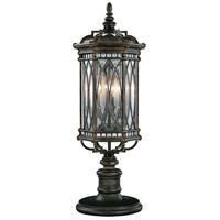 Warwickshire 3 Light 32 inch Wrought Iron Patina Outdoor Adjustable Pier/Post Mount