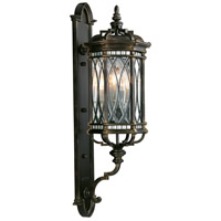 Warwickshire 4 Light 41 inch Wrought Iron Patina Outdoor Wall Mount