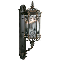 Warwickshire 3 Light 33 inch Wrought Iron Patina Outdoor Wall Mount