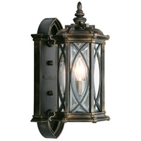 Warwickshire 1 Light 16 inch Wrought Iron Patina Outdoor Wall Mount