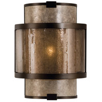 Fine Art Lamps 618050ST Singapore Moderne 1 Light 9 inch Warm Muted Silver Leaf Coupe Wall Light photo thumbnail