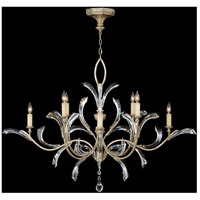 Fine Art Lamps Beveled Arcs 8 Light Chandelier in Warm Muted Silver Leaf 701240ST