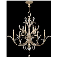 Fine Art Lamps Beveled Arcs 10 Light Chandelier in Warm Muted Silver Leaf 701340ST