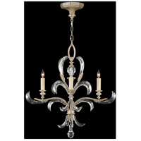 Fine Art Lamps Beveled Arcs 4 Light Chandelier in Warm Muted Silver Leaf 701540ST