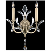 Fine Art Lamps Beveled Arcs 2 Light Sconce in Warm Muted Silver Leaf 701850ST
