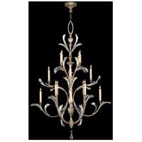 Fine Art Lamps Beveled Arcs 16 Light Chandelier in Warm Muted Silver Leaf 702040ST